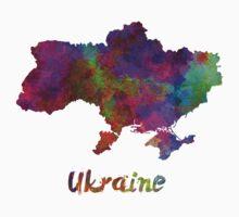 Ukraine in watercolor One Piece - Short Sleeve