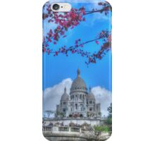 Sacre Couer framed by nature iPhone Case/Skin