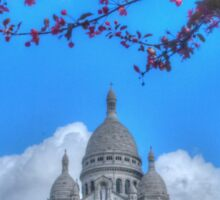Sacre Couer framed by nature Sticker