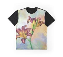 Water colour lily Graphic T-Shirt
