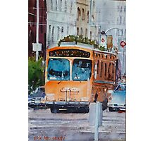 San Francisco Culture Bus Photographic Print