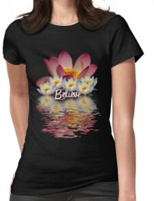 BELIEVE  LOTUS PEACE Womens Fitted T-Shirt