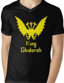 King Ghidorah Pixel Mens V-Neck T-Shirt