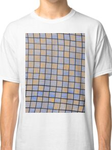 Wavy Rectangles Orange Blue Blue Orange Black Classic T-Shirt