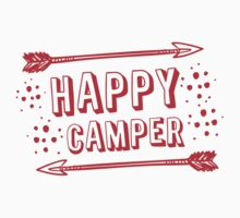 Happy Camper with arrows in RED Baby Tee