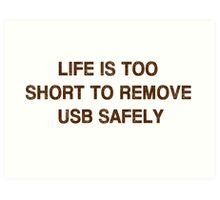 Pc Funny USB Art Print