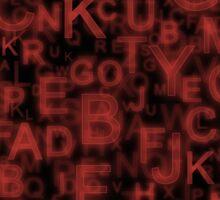 Alphabet Red Sticker