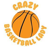 Crazy basketball lady (circle) Photographic Print