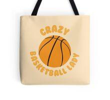 Crazy basketball lady (circle) Tote Bag