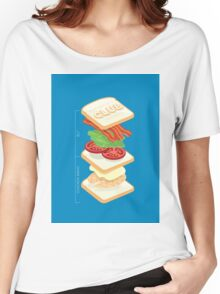 Anatomy of a Club Sandwich Women's Relaxed Fit T-Shirt