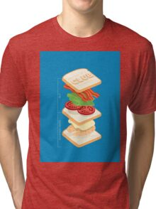 Anatomy of a Club Sandwich Tri-blend T-Shirt