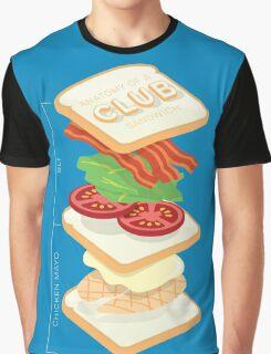 Anatomy of a Club Sandwich Graphic T-Shirt