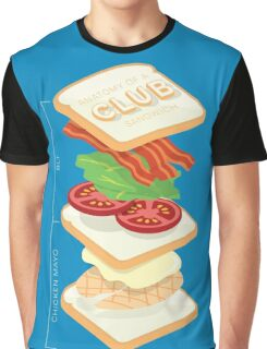 Anatomy of a Club Sandwich Graphic T-Shirt