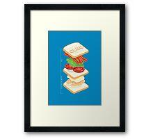 Anatomy of a Club Sandwich Framed Print
