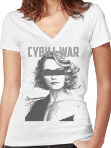 Cybill War Women's Fitted V-Neck T-Shirt