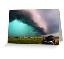 Blue Green Beast Supercell Greeting Card