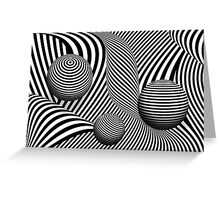 Abstract - Poke out my eyes Greeting Card