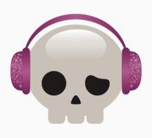 Cute Skulls with Pink Accessories Kids Tee