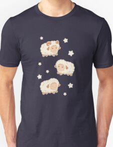 Cute Little Sheep on Tan Brown Unisex T-Shirt