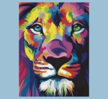Colorful Lion Kids Tee