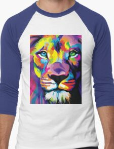 Colorful Lion Men's Baseball ¾ T-Shirt