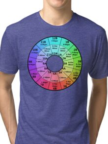 Harmonic Mixing Camelot Wheel Tri-blend T-Shirt