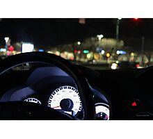 Driving in My Car Photographic Print