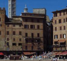 Piazza del Campo, Siena Sticker