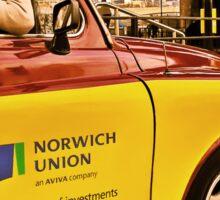 a cab in london Sticker