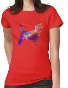 Cairn Terrier in watercolor Womens Fitted T-Shirt