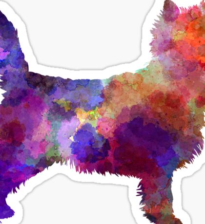 Cairn Terrier in watercolor Sticker