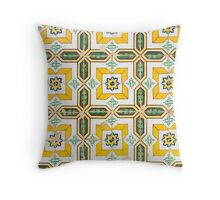 Yellow Azulejo Throw Pillow