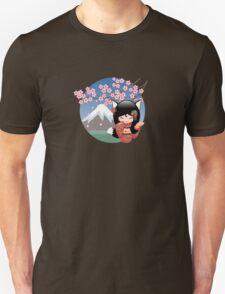 Japanese Kitsune Kokeshi Doll T-Shirt
