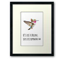 Sexy Little Hummingbird Framed Print