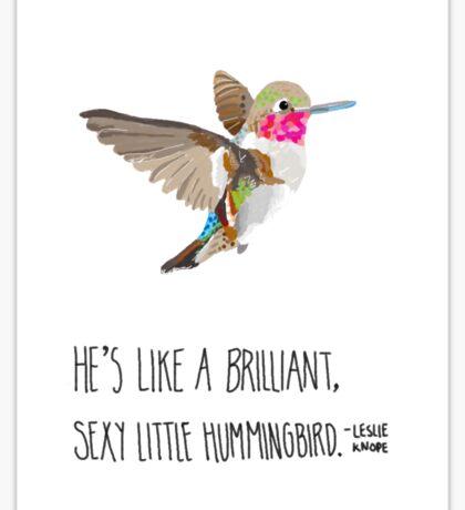 Sexy Little Hummingbird Sticker
