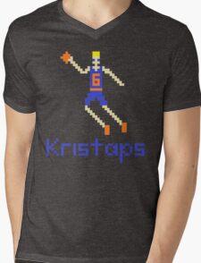 Kristaps Pixel Mens V-Neck T-Shirt