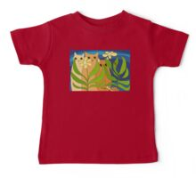 Three Cats, Two Flowers, One Snail and A Ladybug Baby Tee