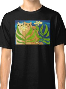 Three Cats, Two Flowers, One Snail and A Ladybug Classic T-Shirt
