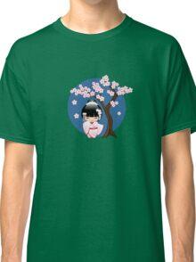 Japanese Bride Kokeshi Doll Classic T-Shirt