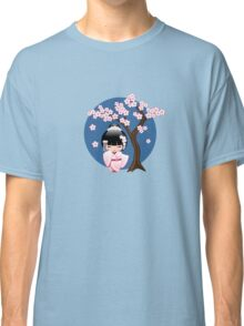 Japanese Bride Kokeshi Doll Classic T-Shirt