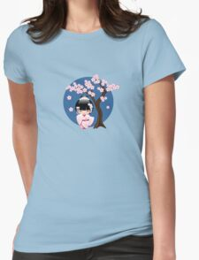 Japanese Bride Kokeshi Doll Womens Fitted T-Shirt