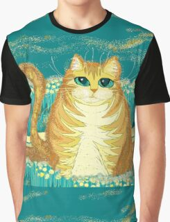 Cat And Pollen Graphic T-Shirt