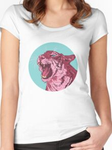 Magenta tiger Women's Fitted Scoop T-Shirt