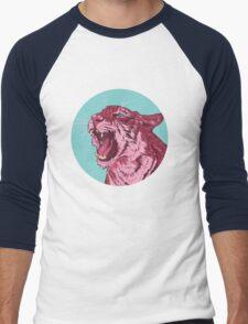 Magenta tiger Men's Baseball ¾ T-Shirt