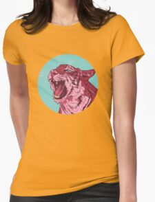 Magenta tiger Womens Fitted T-Shirt