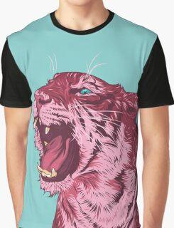 Magenta tiger Graphic T-Shirt