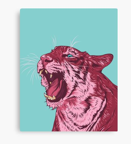 Magenta tiger Canvas Print