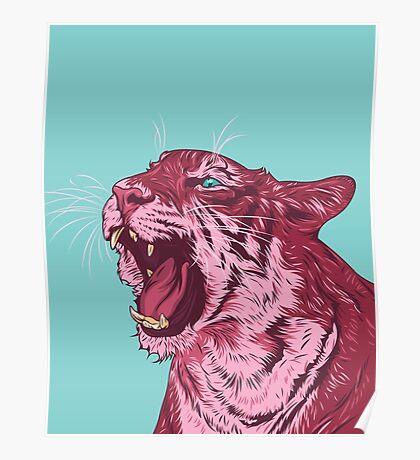 Magenta tiger Poster