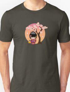 Japanese Sakura Kokeshi Doll T-Shirt