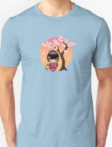 Japanese Sakura Kokeshi Doll Unisex T-Shirt